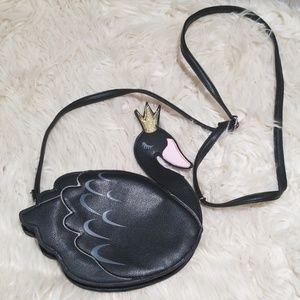 Black swan sleepyville Critters mini bag